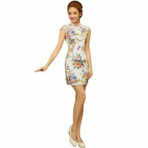 Fashion Chinese Style Cheongsam Elegant Retro Cheongsam D (Large)