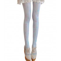 Women's Girl's Stockings Soft Footed Tights, Lucky Colors