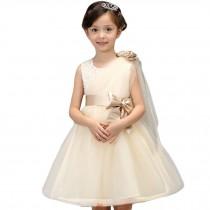 Elegant Girl's Princess Dress Fashion Lovely Princess Summer Dresses(Champagne)