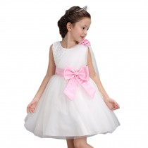 Elegant Girl's Princess Dress Fashion Lovely Princess Summer Dresses(White)
