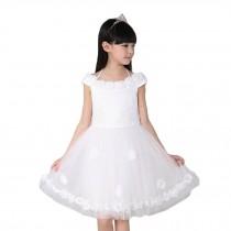 Elegant Girl's Princess Dress Lovely Summer Slip Dresses(White)
