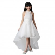 Elegant Girl's Princess Dress Floor-length Wedding Dress (White)