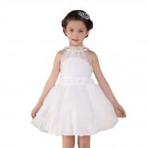 Elegant Girl's Princess Dress GirlsTulle Lace Tutu Dress (White)