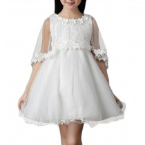 Lovely Girl Party Dresses WHITE Tulle Lace Princess Dress