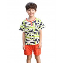 Short Sleeve Summer Pajama Union Jack Pajama for Boys