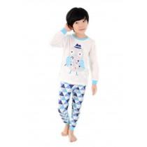Blue Mr Owl Boys Pajama Set, 7-8 Yrs
