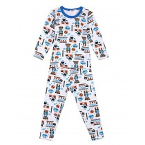 Blue Bears Cotton Pajama Set for Boys, 5-6 Yrs