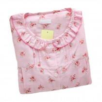 [Pink Floral]Maternity Pajamas Nursing Pajamas Set Cotton Sleepwear Nightwear
