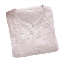 [Purple Lace] Cotton Maternity Nightwear Nursing Pajama Set Breastfeeding Pajama