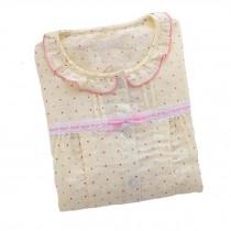 [Yellow Dots] Cotton Maternity Nightwear Nursing Pajama Set Breastfeeding Pajama