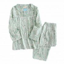 [Plum Blossom] Cotton Maternity Nightwear Pajama Set Breastfeeding Pajamas