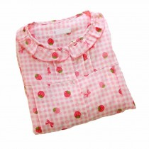 [Strawberry] Cotton Maternity Pajamas Set Nightwear Breastfeeding Pajamas
