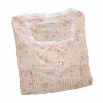 [Pink Stripe] Cotton Maternity Pajamas Set Nightwear Breastfeeding Pajamas