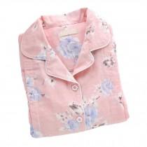 [Pink Rose] Cotton Maternity Pajamas Set Nightwear Breastfeeding Pajamas