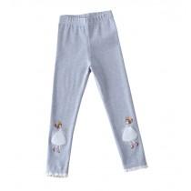"""Cotton Spring Autumn Leggings Pants for Girls Light GRAY, Height 100cm/39"""""""