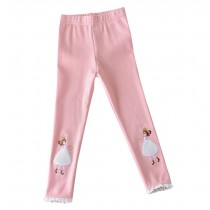 """Cotton Spring Autumn Leggings Pants for Girls PINK, Height 100cm/39"""""""