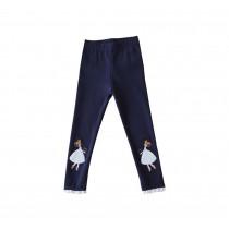"""Cotton Spring Autumn Leggings Pants for Girls Dark BLUE, Height 100cm/39"""""""