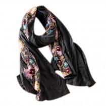 Fashion Shawl for Lady/Lightweight Soft Scarf/Embroidery Scarf,Floral, GREY