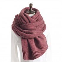 Comfortable Winter Warm Unisex Neckerchief/Fashion Knitted Woolen Scarf/RED