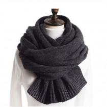 Fashion Knitted Woolen Scarf/Comfortable Winter Warm Unisex Neckerchief/GREY
