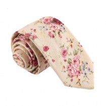 Formal/Casual Cotton Neckties Pink Flower Fashion Neckties Men Leisure Wear 6 cm