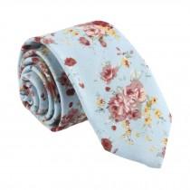 Cotton Neckties Blue Flower Fashion Neckties Men Formal/Casual Decoration 6 cm