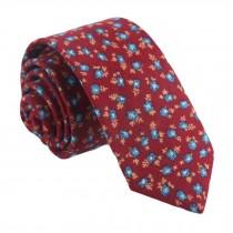 Formal/Casual Neckties Men Cotton Neckties Red Skinny Necktie Fashion Floret 6cm