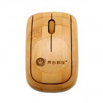 New Style Bamboo Wireless Mouse Mini Office Wireless Mouse BRONZE