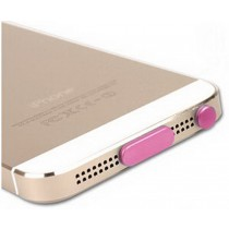 Modern Stylish Data Tail & Headset Dust Plug For iphone5s PINK