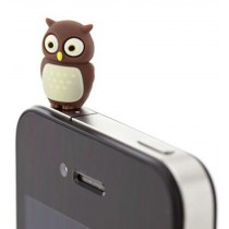 3 Pcs 3.5mm Cell Phone Universal Dust Plug Cartoon Ear Cap Owl