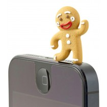 3 Pcs 3.5mm Cell Phone Universal Dust Plug Ginger Bread Men Ear Cap