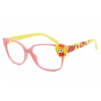 Cute Pink and Yellow Kids' Glasses Frame NO LENS