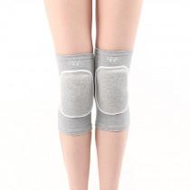 Knee Brace Sleeve for Sports, Yoga, Dance, Arthritis, Joint Pain, Gray(L)