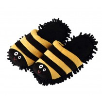 Yellow Stripes Cleaning Slippers Cleaning Floor Brushes,Foot Length 26 CM