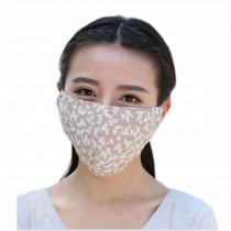 Fashion Thin UV Protection Dust Proof Cotton Sanitary Mask, Apricot