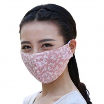 Fashion Thin UV Protection Dust Proof Cotton Sanitary Mask, Pink
