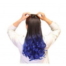 Long Highlight Ponytail Extension for Women, Royal Blue