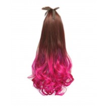 Long Highlight Ponytail Extension for Women, Fuchsia