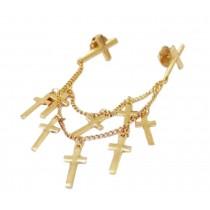 Angle Collar Shirt Collar Pin Collar Chain Brooch Decoration, Crosses