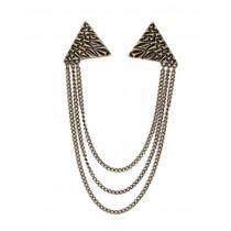 Angle Collar Shirt Collar Pin Collar Chain Brooch Decoration, Retro
