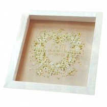 PANDA SUPERSTORE Simple [Heart] DIY Cross-Stitch 11 CT Counted Wedding Embroidery Kits(8.2*7.8'')