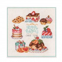 PANDA SUPERSTORE [Desserts] DIY Cross-Stitch 11 CT Embroidery Kits Kitchen Decorations(11*11'')