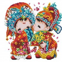PANDA SUPERSTORE [Chinese Wedding]DIY Cross-Stitch 11CT Embroidery Kits Wedding Decor/11.4*10.6''