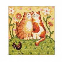 PANDA SUPERSTORE [Lovely Kitty] DIY Cross-Stitch 11 CT Embroidery Kits Room Decorations(7.48*7'')