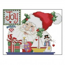 PANDA SUPERSTORE [Santa Claus] DIY Cross-Stitch 11 CT Embroidery Kits Room Decors,20.4*16.5''