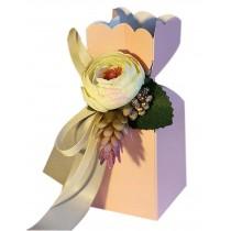 20pcs European Style Wedding Candy Box Flower Birthday Party Gift Box, Pink