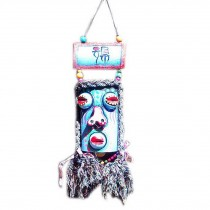 Featured Monster Facial Makeup Wind Chime Vintage Bar Wall Decor BLUE
