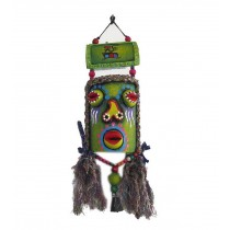 Featured Monster Facial Makeup Wind Chime Vintage Bar Wall Decor GREEN