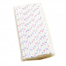 [Stars] Party-use Paper Disposable Drinking Suckers/Creative Straws 50PC