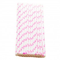 [Pink Hearts] Party-use Paper Disposable Drinking Suckers/Creative Straws 50PC
